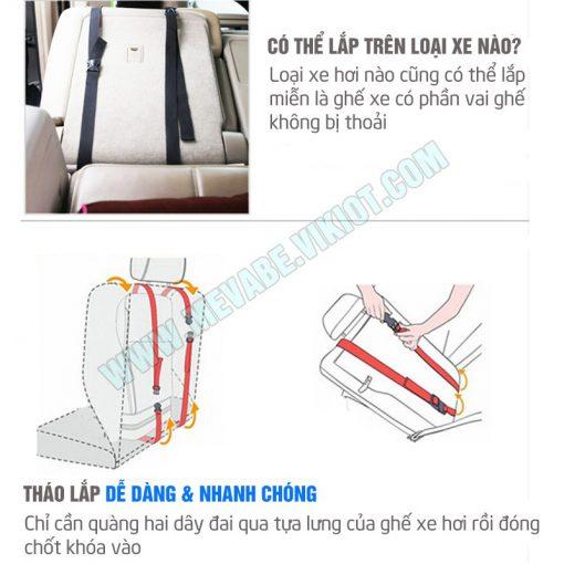 Hướng dẫn lắp ghế ngồi ô tô cho bé